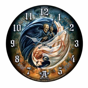 Versus Doctrinus by Alchemy Gothic Life and Death-Wall Clock  [NFS]