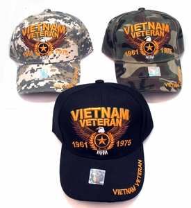 Vietnam Veteran 1961-1976 Cap - Assorted