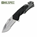 "MILSPEC ""Neutron"" Assisted Opening Rescue Knife- Black"