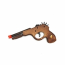 Wooden Rubber Band Gun w/ Orange Tip