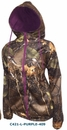 World Famous Sports Ladies Woodland Camo Zipped Hoodie - Medium