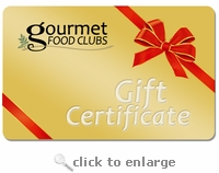 Gourmet Food Clubs  $25 Gift Certificate