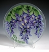 "Peggy Karr Glass Handmade Fused Glass - 2013 Collectible Morning Glory 11"" Plate"
