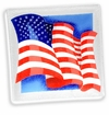 Peggy Karr Glass Handmade Fused Glass - Waving Flag Design