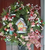 Christmas Candy Gingerbread House Wreath 27 inch by Shelley B Home and Holiday