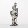6 Inch Silver Plate Bunny with Backpack