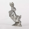 6 inch Silver Plated Bunny Holding Carrot