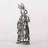 6 inch Silver Plated Lady Bunny Holding
