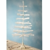 Bethany Lowe 42 inch Glitter Ivory Feather Tree