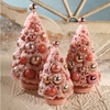 Bethany Lowe Bashful and Blush Bottle Brush Tree Trio