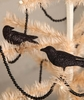 Bethany Lowe Glittered Crow Halloween Ornaments set of 2