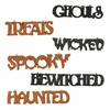 Bethany Lowe Halloween Word Ornament set of 6