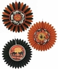 Bethany Lowe Haunting Tissue Paper Halloween Rosettes set of 3