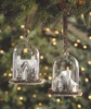 Bethany Lowe Ivory Putz Cottage Cloche Ornaments