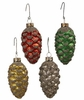 Bethany Lowe Pine Cone Mercury Ornament set of 4