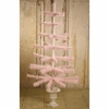 Bethany Lowe Pink Soft Goose Feather Tree in Urn