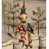 Bethany Lowe Robin Seeber Christmas Candy Cane Elfen Doll