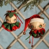 Bethany  Lowe Robin Seeber Elfin Bell Ornaments set of 2