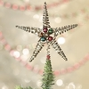 Bethany Lowe Silver Star Crimped Wire Feather Tree Topper