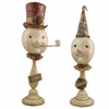 Bethany Lowe Top Hat and Party Hat Snowmen