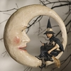 Bethany Lowe Witch on Moon