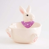 Bunny Bowl with Purple Scarf 5.75 inches