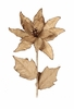 Burlap Poinsettia Stem 26 inches