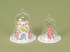 Christmas Candy House and Tree Under Glass Dome Cloche Ornament