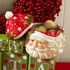 Christmas 6.5 inch Santa Face Cookie Jar