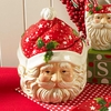 Christmas 9 inch Santa Face Cookie Jar