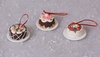 Christmas Candy Cakes on Plates Ornaments set of 3