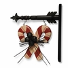 Christmas Candy Canes with Black  Arrow Sign