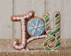 Christmas Candy Decoration Gingerbread Joy Sign