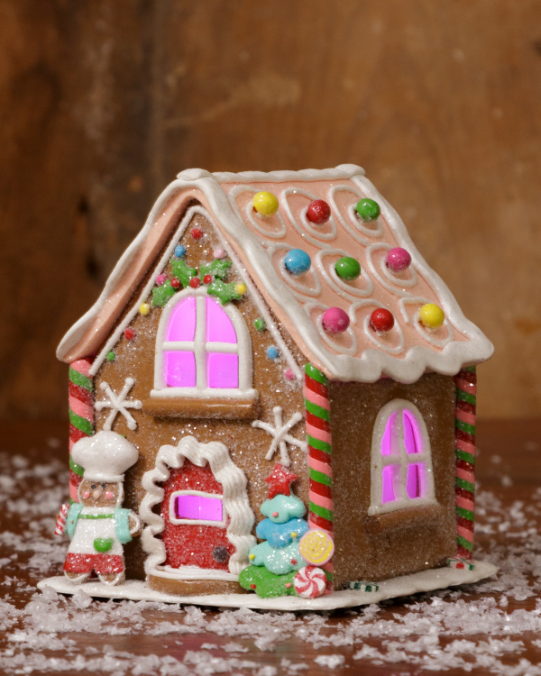 gingerbread bakery candy Christmas house