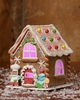 Christmas Candy Gingerbread Bakery with Light
