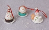 Christmas Candy Snowman Cake Ornaments set of 3
