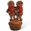 Christmas Gingerbread Couple on Cupcake