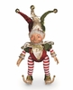 Christmas Jester Elf with pot belly 13.5 inches