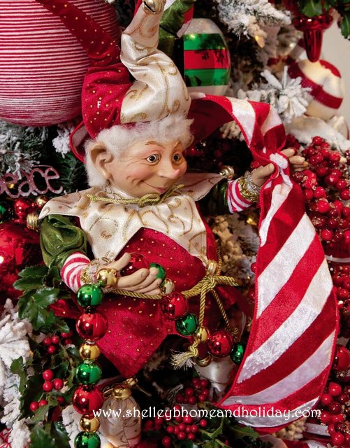 jester elf in christmas tree - Elf Christmas Decorations
