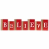 Christmas Small Red Believe Bricks