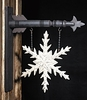 Christmas Snowflake with Black Arrow