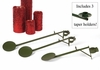 Christmas Tree Display adjustable arm with shelf, set of 3