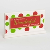 Christmas White Polka Dot Wonderful Ceramic Tabletop Sign
