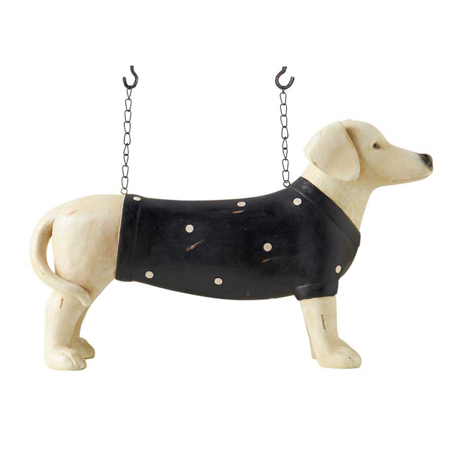 Dachshund dog figure for hanging sign