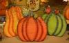 Fall Yard Art Metal Harvest Sayings Pumpkins w Easel Prop