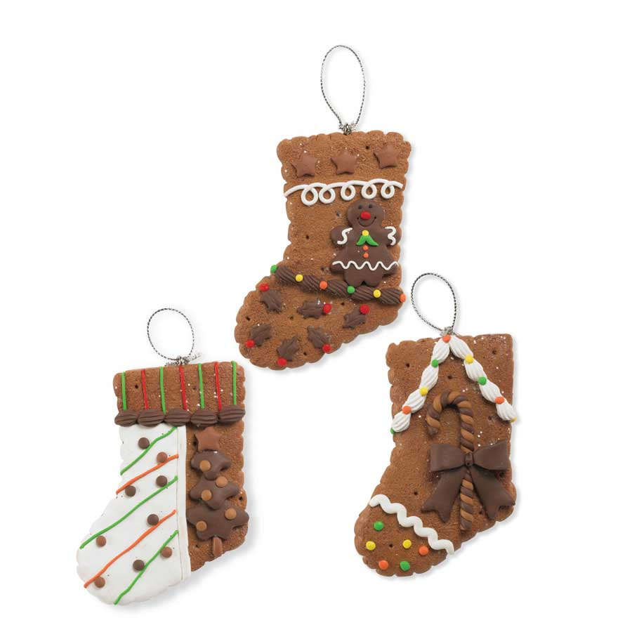 Gingerbread stocking Christmas Ornament
