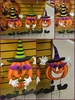 Halloween Trick or Treat Jack O Lantern Standing Metal Yard Art Stakes