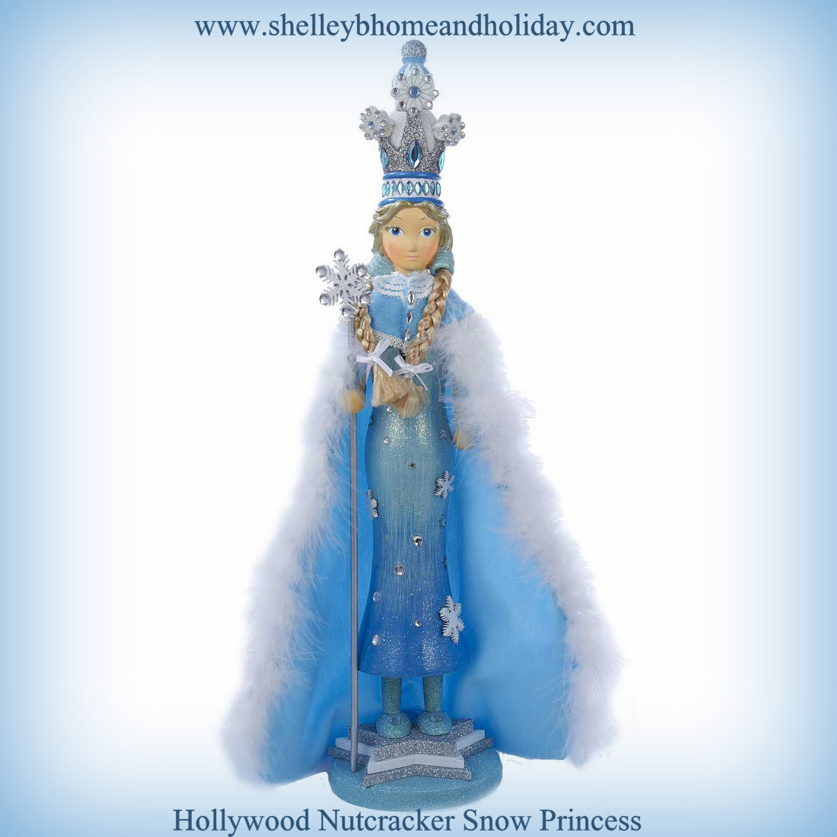 frozen snow princess figure