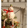 Johanna Parker for Bethany Lowe Roly Poly Snowman Clip Ornament