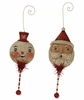 Johanna Parker Santa and Snowman Holiday Rattle Christmas Ornament